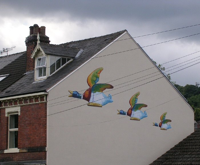 Artwork at Albert Road, Heeley, July 2012