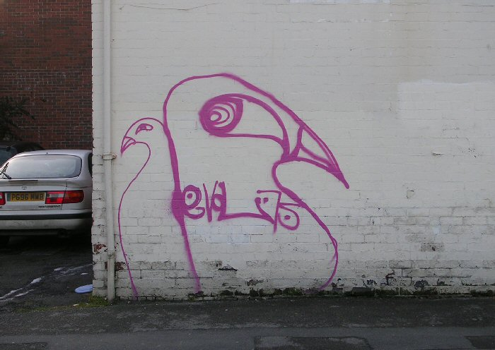 Artwork at Bruce Road, now painted out