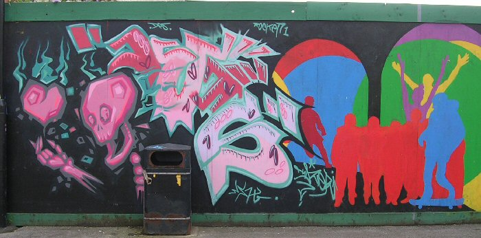 Artwork by Rocket 01 and unknowns, 31 Aug. 2012