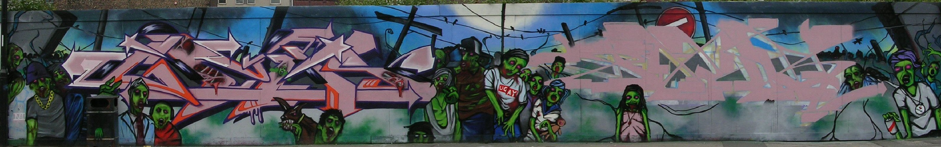 Zombies panorama by Gzos and Jaer - 10 June 2013