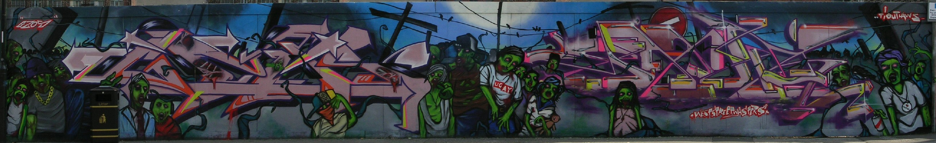 Zombies panorama by Gzos and Jaer - 18 June 2013